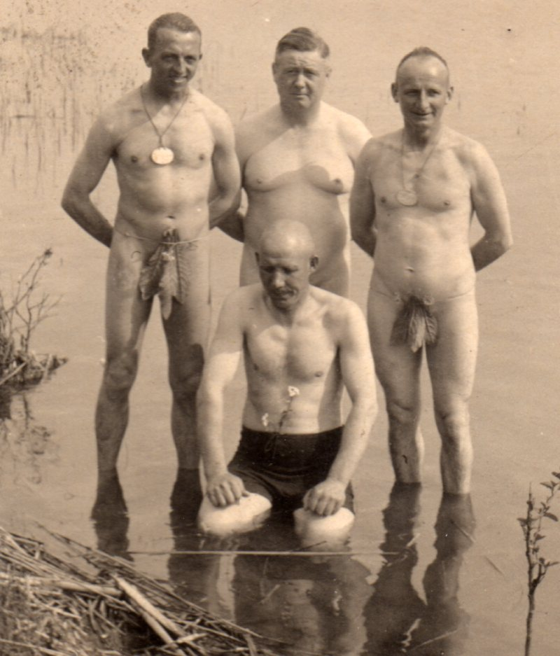 Vintage Ymca Nude Swimming Male-6397