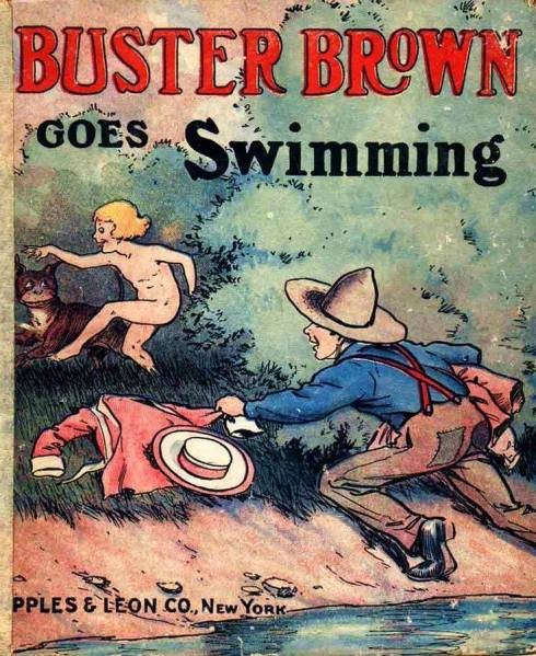 Buster Brown Skinny-dipping and Swimming
